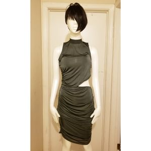NWT! Misguided Green Slinky Dress size 10